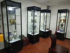 多層木結構博物館展柜-木質烤漆展柜廠家