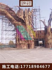 水泥景觀大門 雕塑景區入口施工 水泥假樹