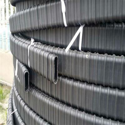 预应力塑料波纹管 黑色扁型塑料波纹管