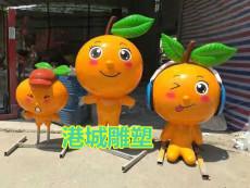 南昌玻璃钢卡通柑桔砂糖桔橘子吉祥物雕塑价
