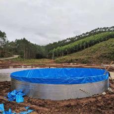 帆布水池帆布魚池高密度養殖鍍鋅板圓形水池
