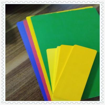 彩色PVC发泡板 高密度彩色结皮板 雕刻板