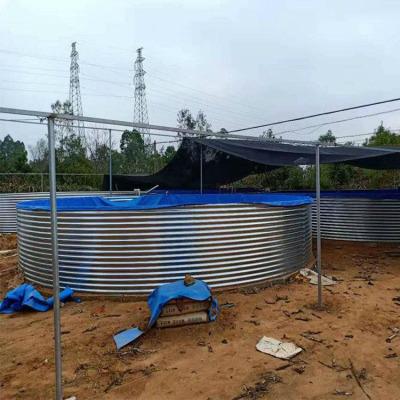 水产养殖帆布水池-新型养鱼养虾镀锌板水池