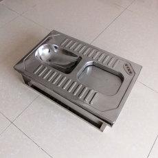 不銹鋼蹲便器旱廁 腳踏開閉 不銹鋼帶蓋蹲便