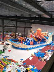 海盜船大型充氣玩具 新款充氣城堡滑梯