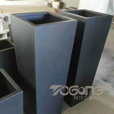 方形不锈钢花箱定制 户外氟碳漆不锈钢花箱
