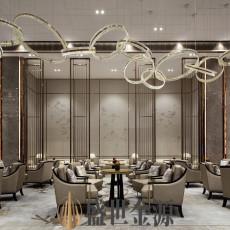 酒店 私人會所大堂安裝不銹鋼屏風隔斷