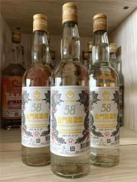 金門高粱酒白金龍白標58度600毫升金門酒廠
