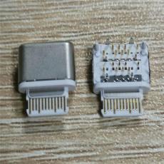 USB 3.1插座 16P前插后貼 90度插件TYPE C