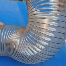 PU聚氨酯鋼絲除塵軟管雕刻機耐磨鋼絲風管