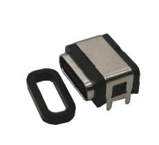 TYPE-C防水母座 臥式板上 防水type C插座