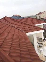 彩石金属瓦厂家屋面仿古瓦镀铝锌瓦平改坡瓦