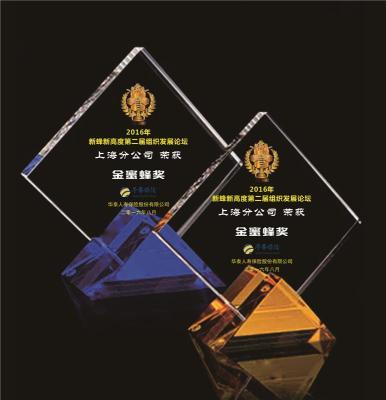 上海供应单位党员表彰奖杯 奖杯设计
