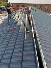 彩石金属瓦厂家出口屋面瓦镀铝锌钢结构瓦