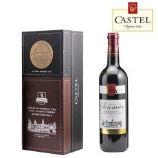 重慶紅酒卡斯特波爾多干紅葡萄酒750ml