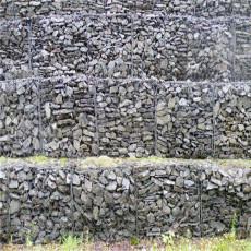 鉛絲石籠擋土墻 河道鉛絲石籠駁岸護岸石籠