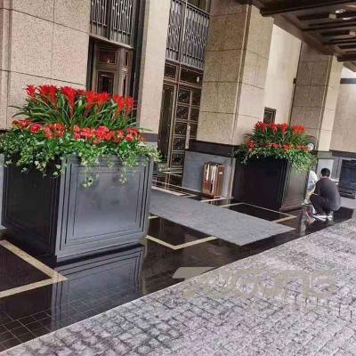 售楼部不锈钢花箱定制 中式户外不锈钢花箱