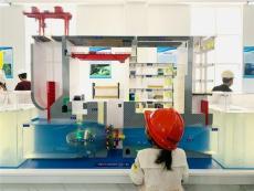 混流式透明水轮机组模型 轴流式水轮机模型