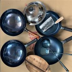 章丘鐵鍋黑鍋純手工鐵鍋宗師鏡面鐵鍋