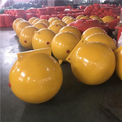 海洋实心填充警示浮漂直径60厘米塑料浮球