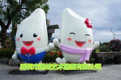 油粘米IP吉祥物雕像玻璃钢米形象卡通公仔价