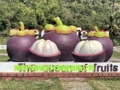 水果观光园卡通山竹吉祥物公仔雕塑定制价格