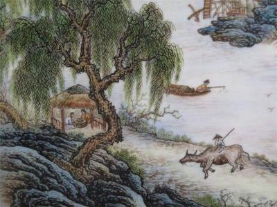 山水瓷板画收购流程是怎么样