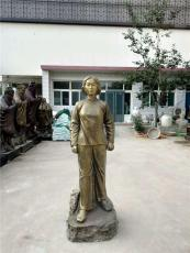 刘胡兰铜雕像红色文化英雄名人整身塑像图片
