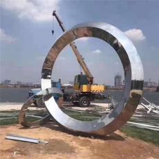 不銹鋼圓圈模型城市廣場水景金屬圓環雕塑