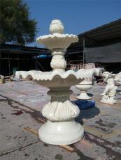 小型石雕水盆庭院水景流水缽黃砂巖噴泉盤
