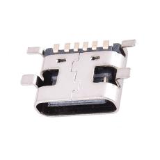 type-c母座連接器四角貼板h6.8