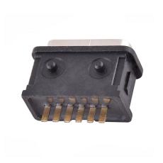 防水type-c 6p母座 180度立式插板连接器