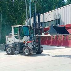 3.5吨越野叉车加铲斗 高底盘越野叉车农村泥