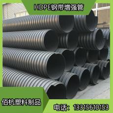 河北佰杭黑色HDPE鋼帶纏繞波紋管重量輕