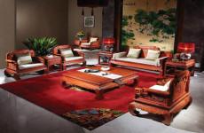 上海古董坏椅子修复老红木托盘老红木镜维修