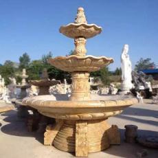石雕喷泉摆件