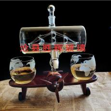 工艺酒瓶帆船酒瓶飞机木架醒酒器