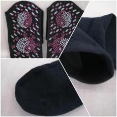 托玛琳涂点袜子八卦热灸袜会销礼品电气石袜