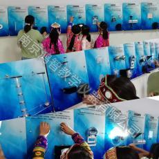 奔马绘图墙面科青少年活动中心校园科技