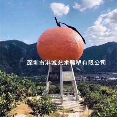 小鎮柑橘之鄉標志玻璃鋼橘子雕塑定制哪家好