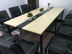 合肥現代鋼架板式會議桌長條培訓洽談桌出售