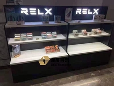 RELX悦刻换弹雾化烟体验店展示柜-矮柜订做