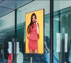 55寸戶外櫥窗2500亮度吊掛壁掛安卓廣告機陽