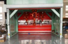 南京工業機械手臂防護快速卷簾門
