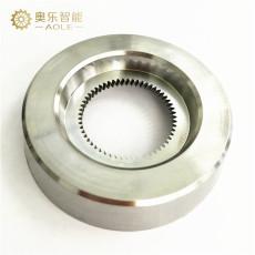 斜齒輪C軸旋轉放電加工