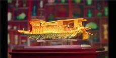 盛世花絲紅船