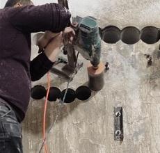 太原大東關街水鉆打孔改造疏通下水道