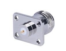 供应N-KFD四孔法兰固定RF同轴连接器 铍青铜