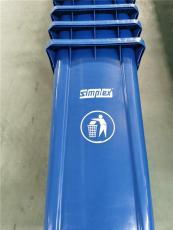 吉林輝南縣手推100升垃圾桶