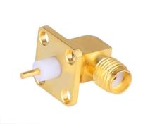 90度鍍金SMA-KWFD10 印制線路板連接器